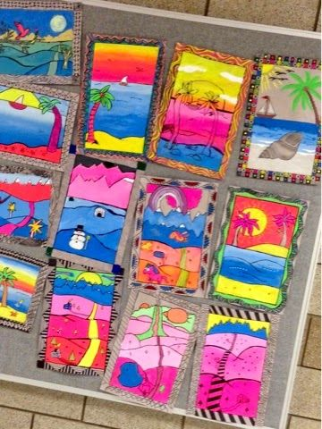 Amate Bark 3D Paintings (Art at Becker Middle School) | Middle