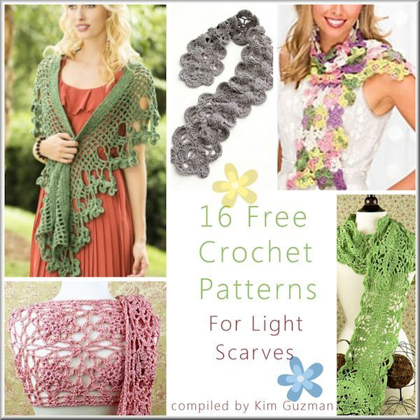 Link Blast: 16 Free Crochet Patterns for Lightweight Scarves | WIPs ...