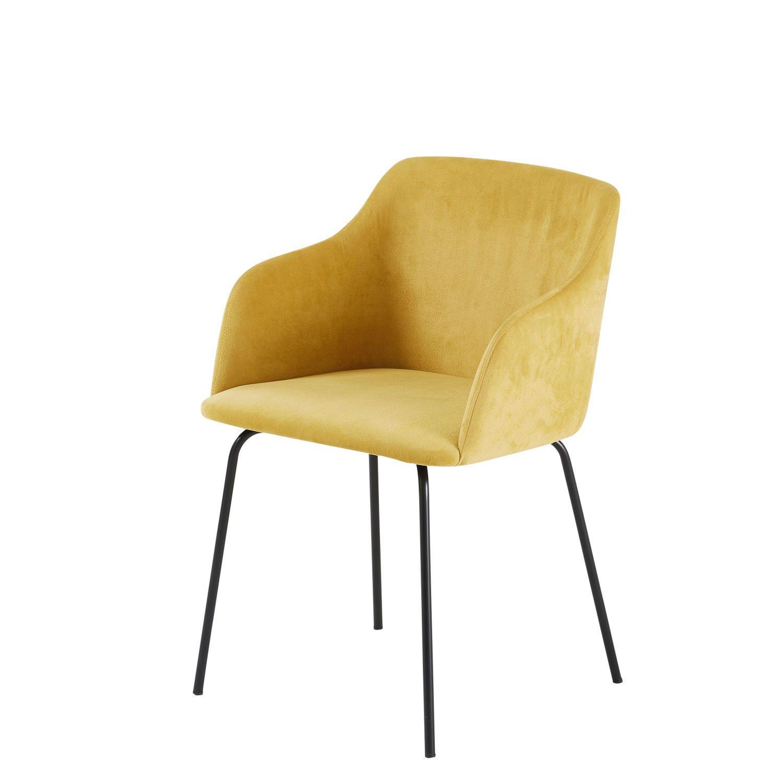 Mustard Yellow Velvet Armchair Maisons Du Monde Fauteuil Velours Fauteuil Fauteuil Design