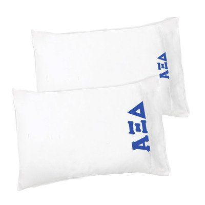 alpha xi delta pillowcase stitched greek letters