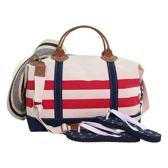 f73a357f8bc Preppy Monogrammed Weekender Bag, Monogram Weekender, Monogram Duffle,  Overnight bag, Travel Bag