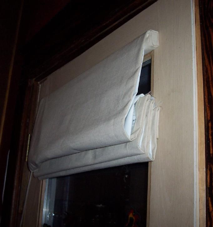 Superb DIY Insulating Roman Shades Deck Doors