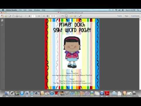 Sight Word Practice Packets