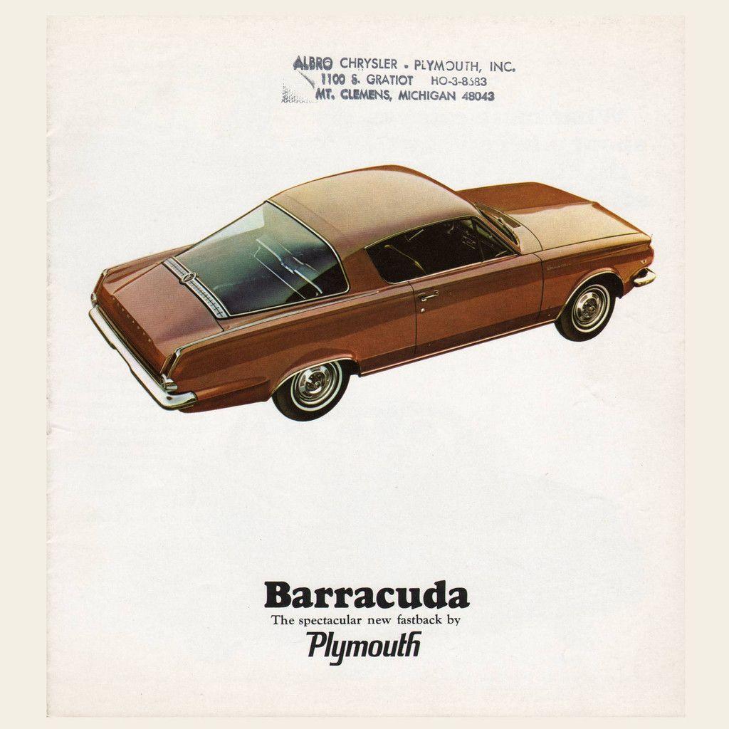 1964 Plymouth Barracuda Brochure Plymouth barracuda