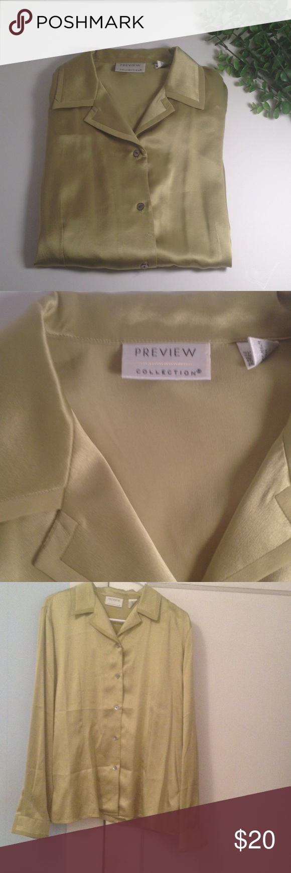 Preview Collection Silk Blouse Preview Collection Silk Blouse. Size L. Composition is 100% silk. Preview Collection Tops Blouses
