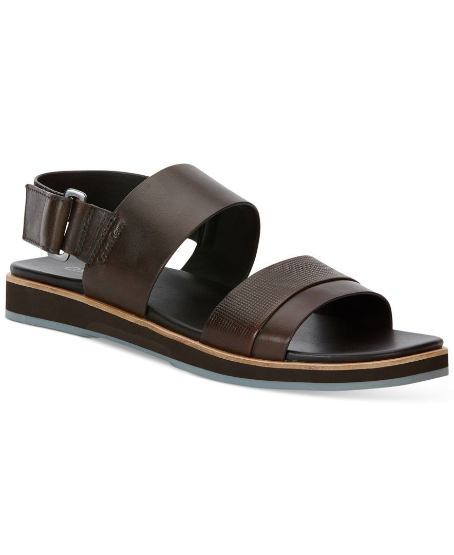 Calvin Klein Men's Dex Leather Sandals - All Men's Shoes - Men - Macy's