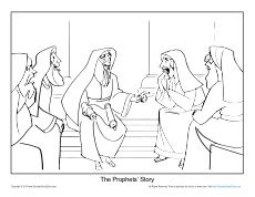 Prophets Foretold Jesus Birth Coloring Page  Prophets Told About