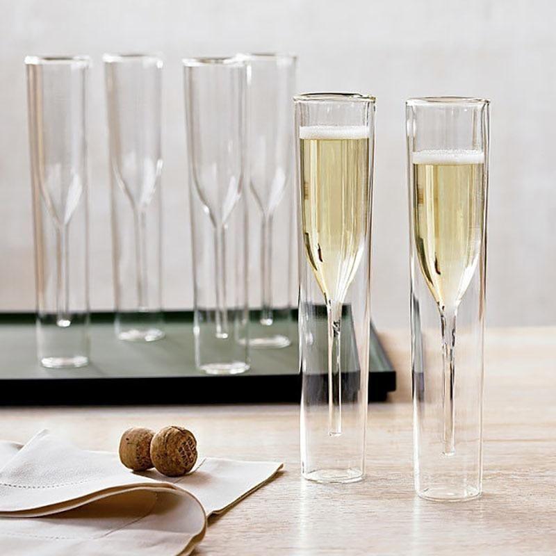 58c99c28a0f7 Aquamarine Luxury Champagne Glasses | I want | Wedding cups ...