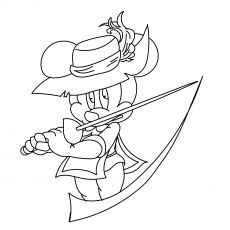musketeer mickey  mickey mouse coloring pages coloring pages mouse color