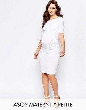 dbb99fc535 ASOS Maternity PETITE Bardot Dress With Half Sleeve