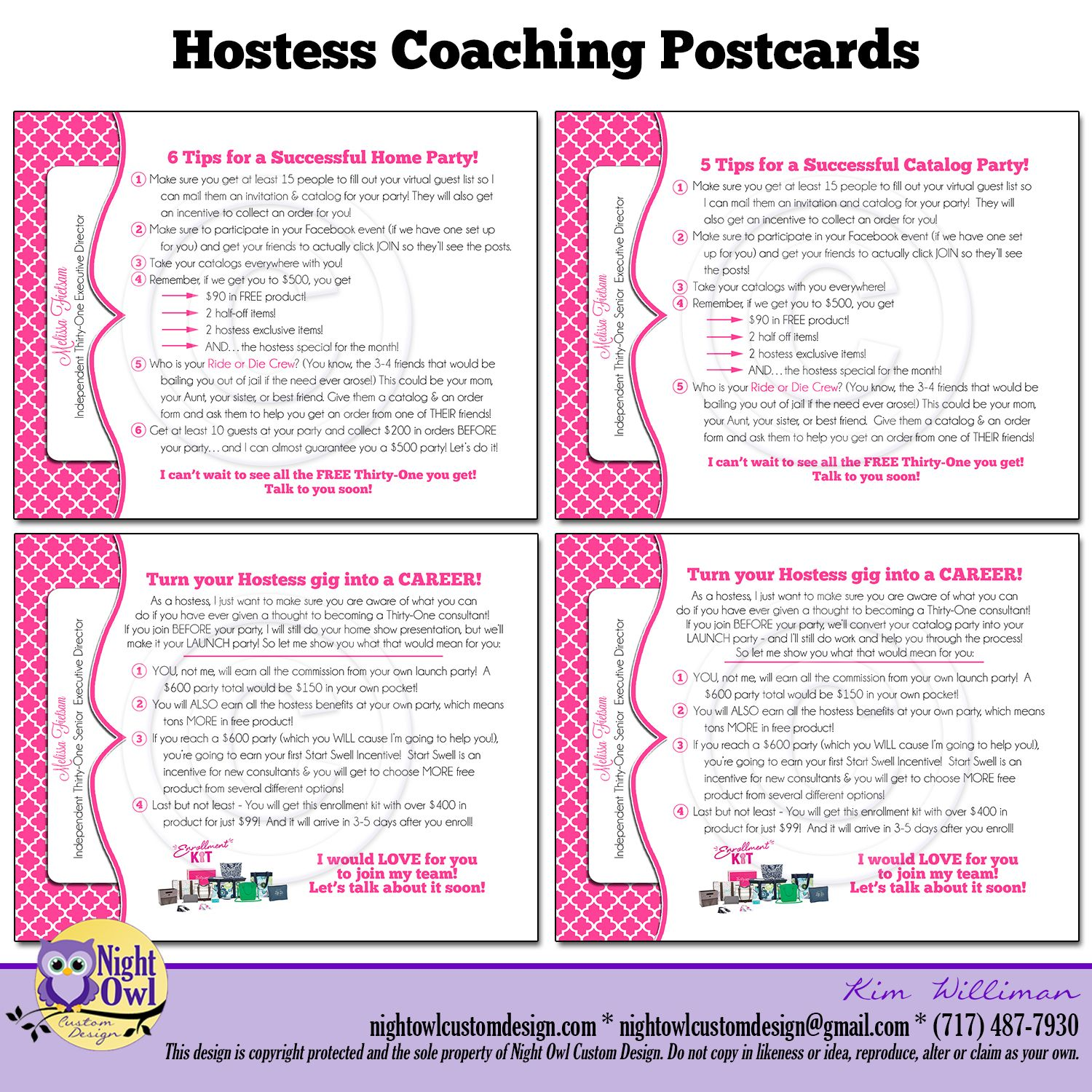 Example Thirty One Hostess Letter