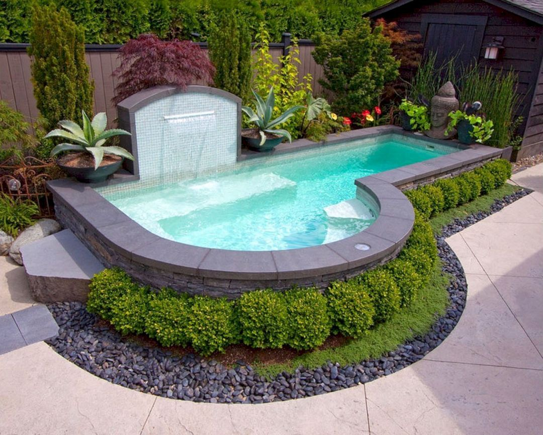 Nice 25 Fabulous Backyard Swimming Pool Ideas For Cozy Summer At Your Home Https Teracee Above Ground Pool Landscaping Small Pool Design Small Backyard Pools