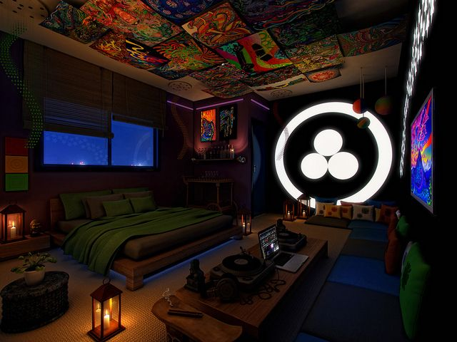 Psychedelic bedroom moving to cph pinterest photos for Chill bedroom ideas