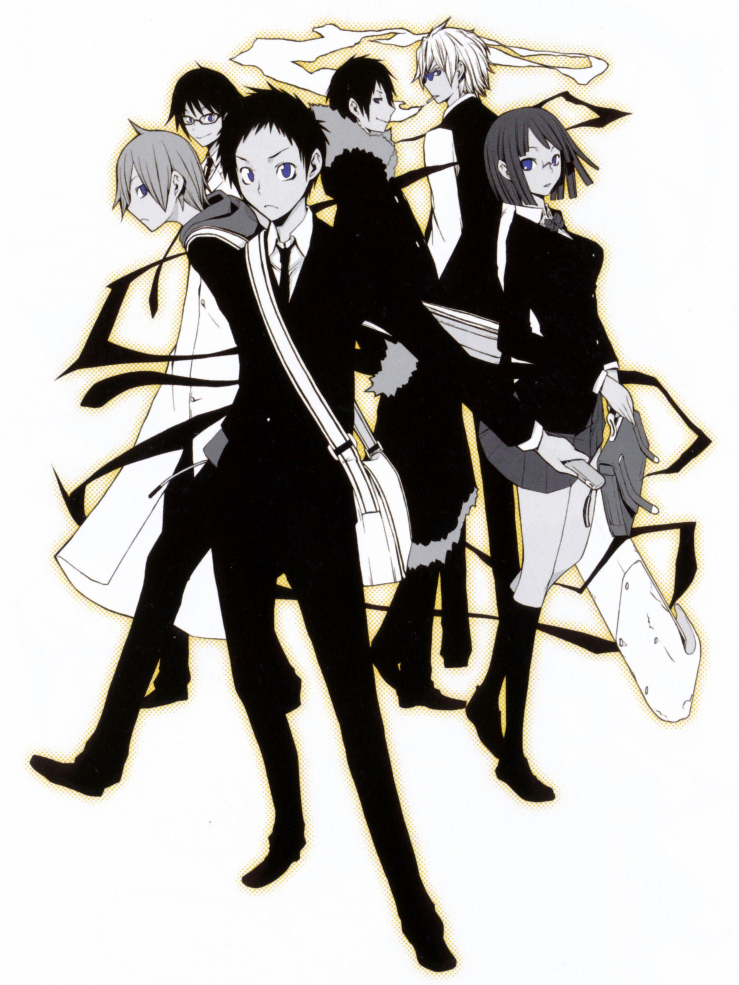 The cast of Durarara!! by Suzuhito Yasuda. キャラクターデザイン