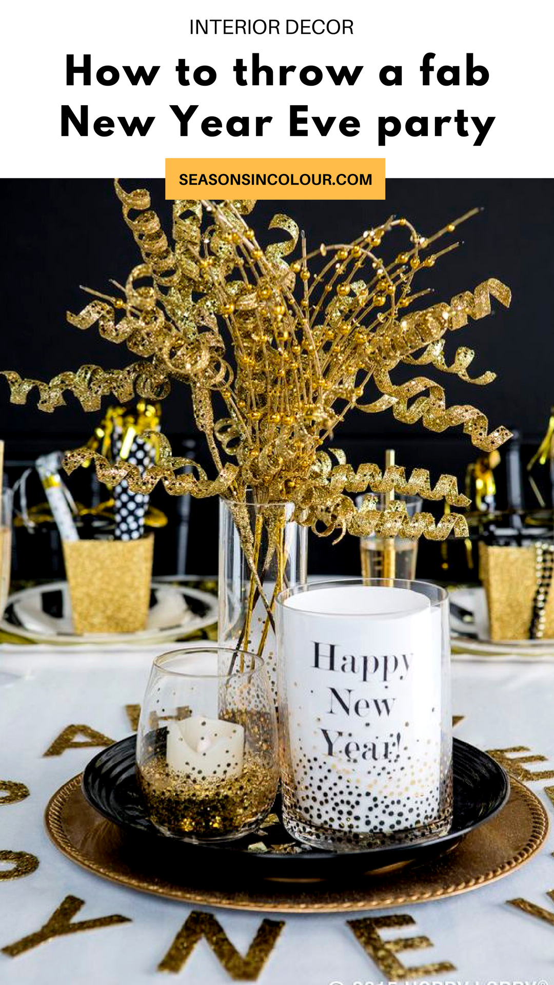 I thought I would share some of my favourite ways in which you can transform your home, making it look like the set of The Great Gatsby. From drinks to decorations and everything in-between, I hope these New Year's party tips help you to create the look you desire, easily and affordably. #newyearseve #partydecor #gatsbydecor #golddecor