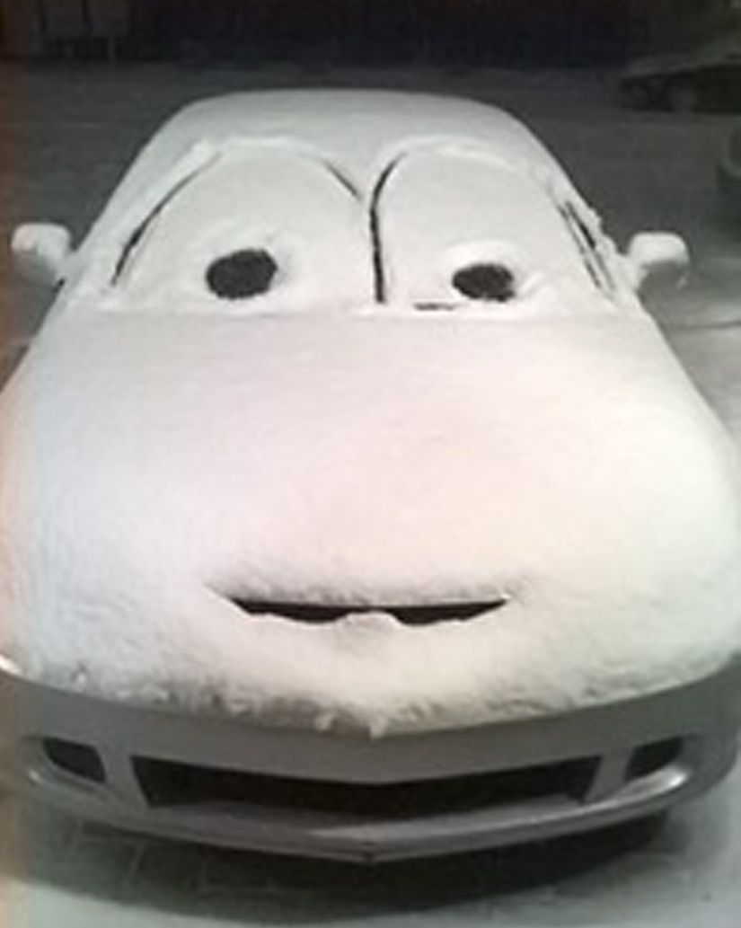 I need to do this to the first car I see next time it snows ...