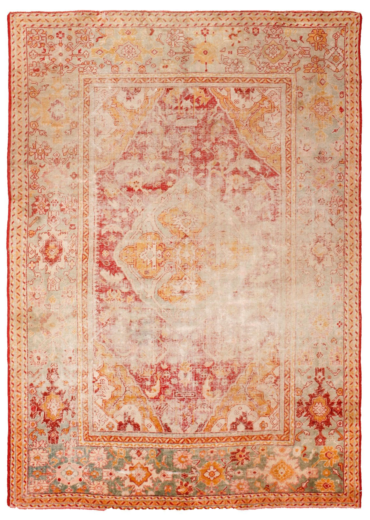 Antique Oushak Rugs Turkish 9 4 2 84 M X 13