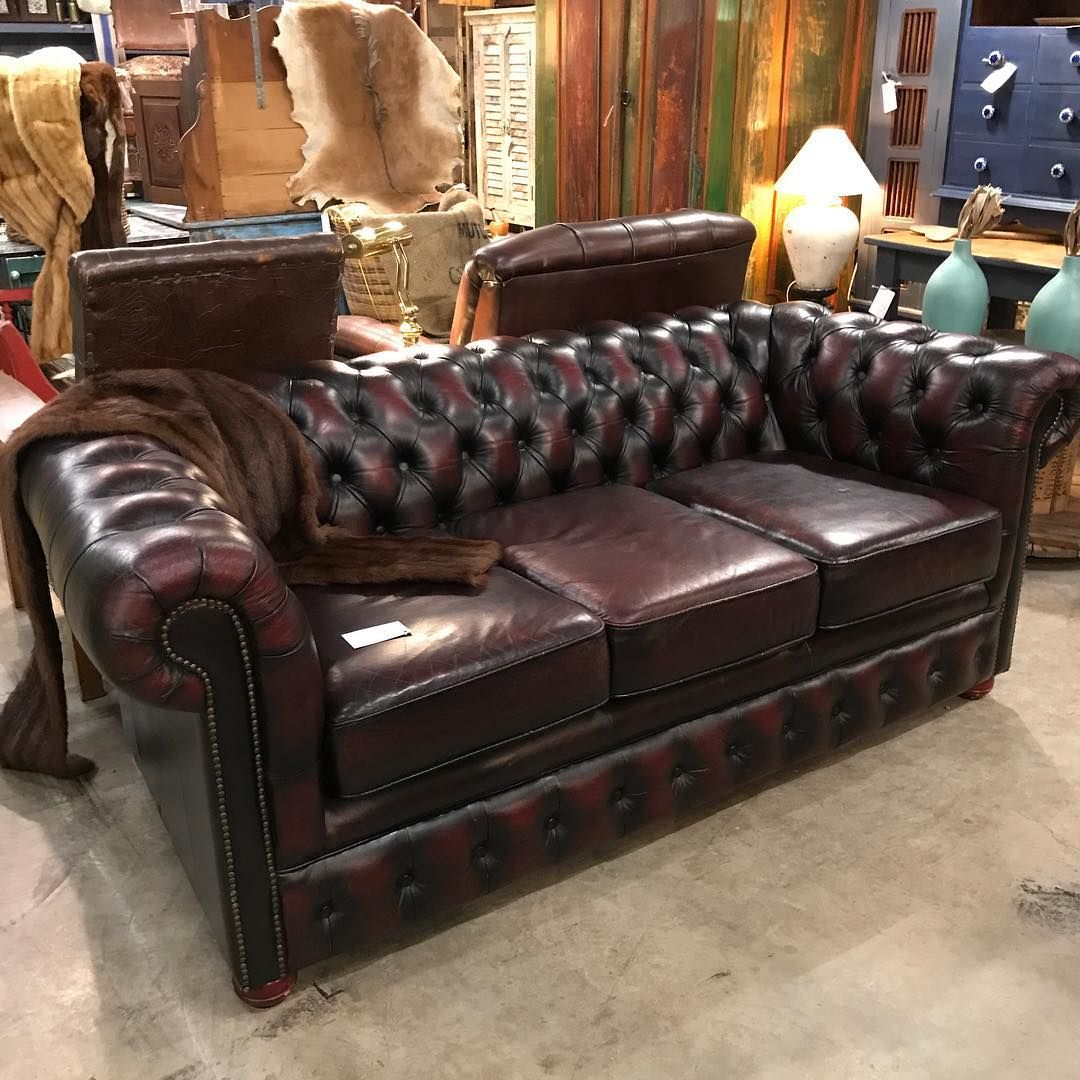 stunning old chesterfield button back lounge oxblood red black rh pinterest com