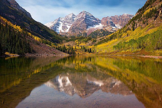 Maroon Bells Colorado  http://www.colorado-hiking-vacations.com/maroon-bells.html