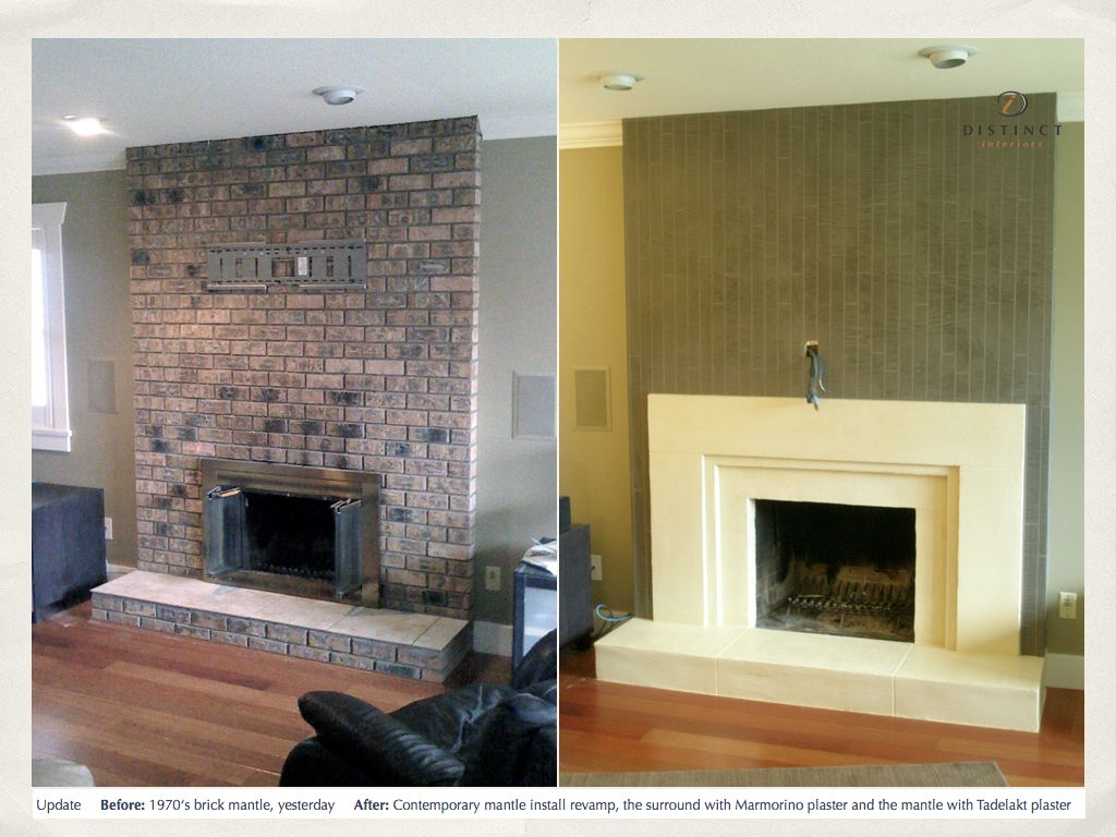 stucco italiano lime plaster fireplace over top of an old ugly brick rh pinterest com