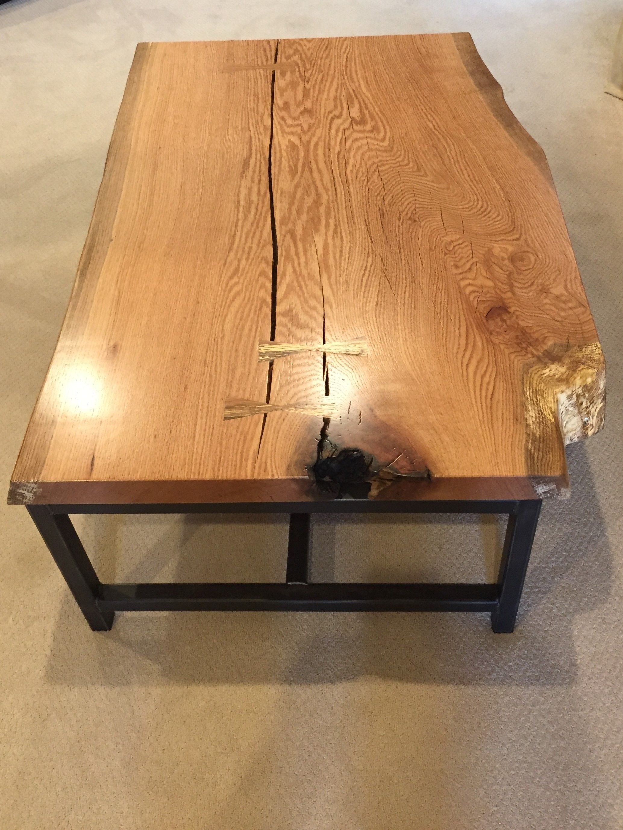Eutree Forest Free Artisan Live Edge White Oak Wood Slab Tabletop
