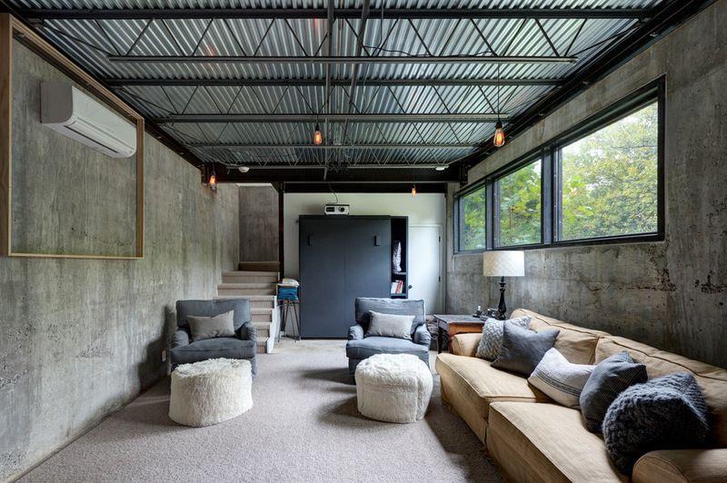 industrial basement by restructure studio house redo exterior rh pinterest com
