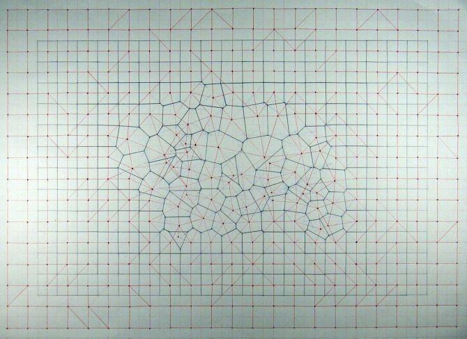 Voronoi square grid magnets a voronoi tessellation with input voronoi square grid magnets a voronoi tessellation with input points generated by the magnetic ccuart Image collections