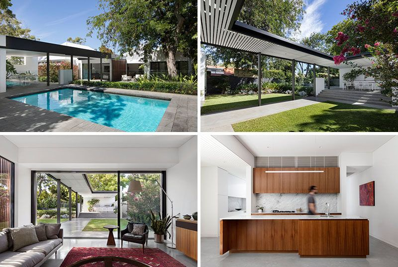 this suburban house received a modern extension and updated backyard rh pinterest com