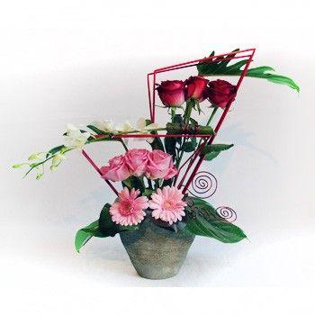 composition cerise artfloral composition florale. Black Bedroom Furniture Sets. Home Design Ideas