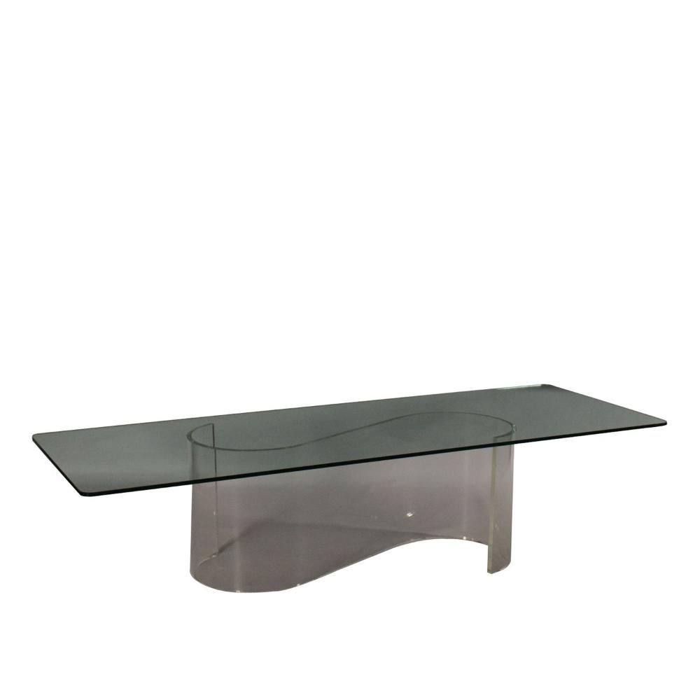 Petite Table Verre Plexiglas Fabrique En Italie Annees 70 Table