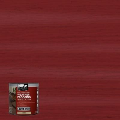 Behr Premium 8 Oz St 112 Barn Red Semi Transparent