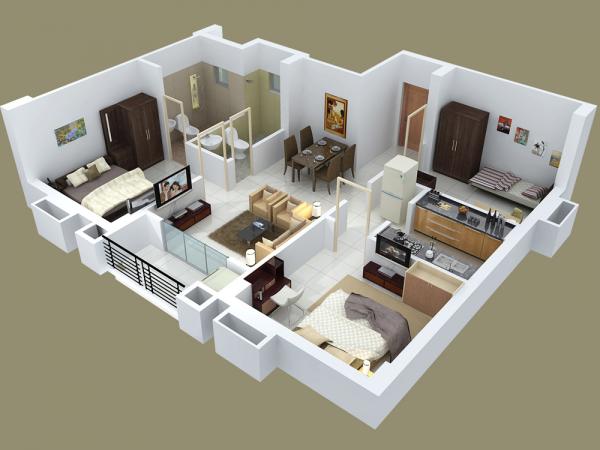 25 Three Bedroom House Apartment Floor Plans House Floor Plans Bedroom House Plans Apartment Floor Plans