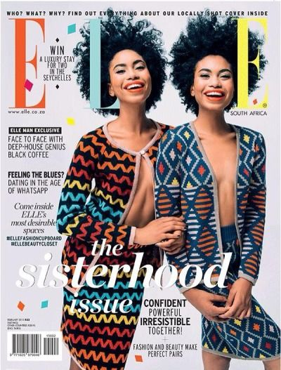 divalocity:  Le Look Du Jour: Suzana and Suzane Massena for ELLE South Africa February 2015