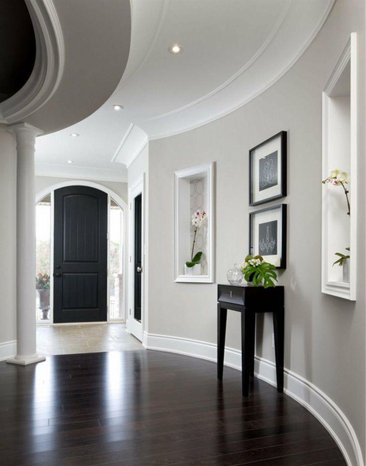 image result for dark com wooden floors light gray walls dark