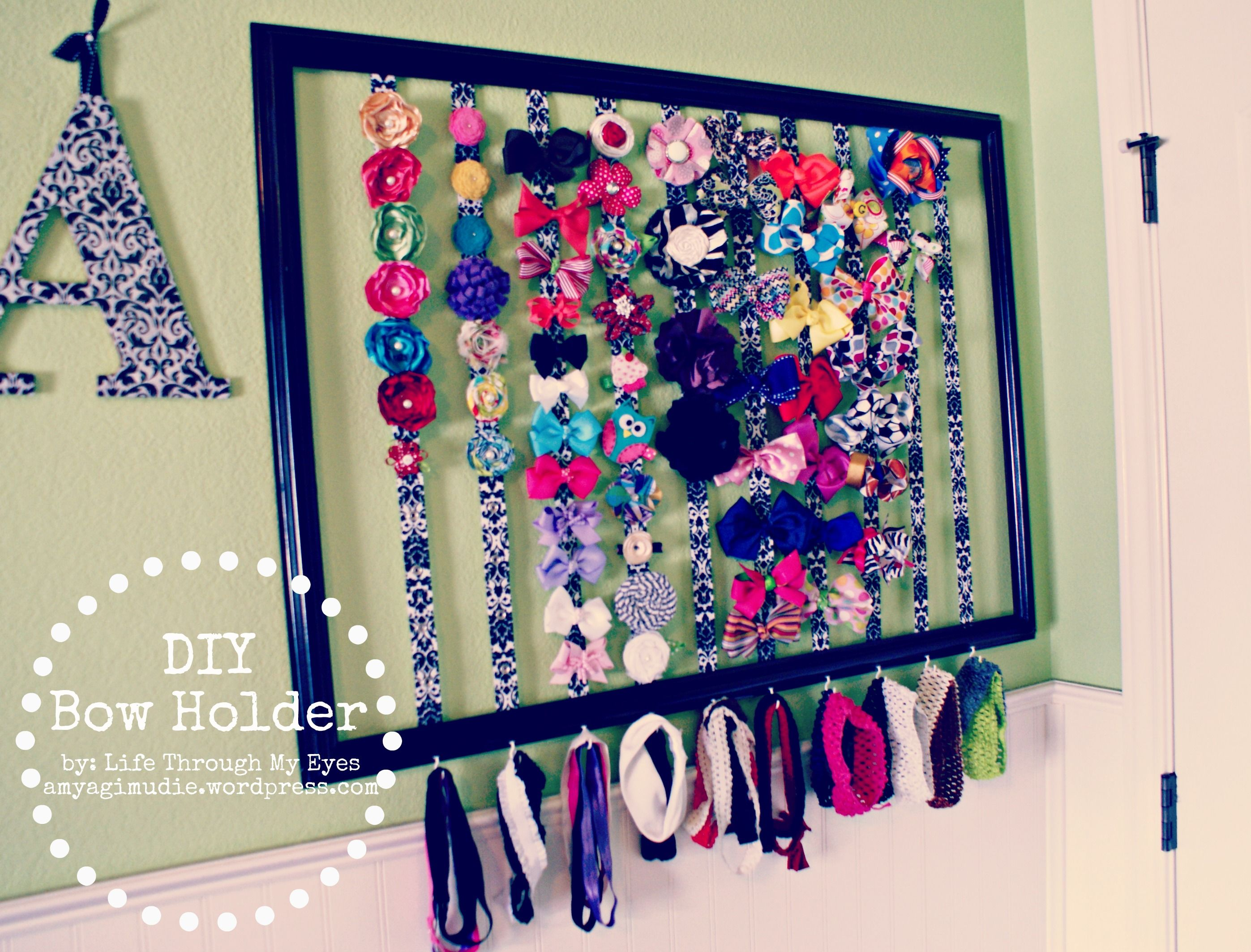Diy Bow Holder To Do Crafts Diy Bow Bow Hanger Bow Board
