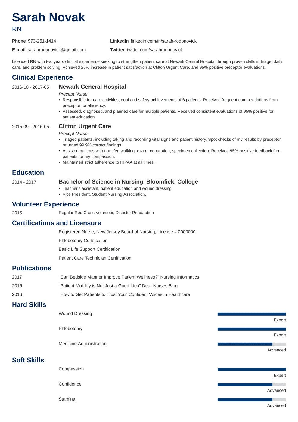 New Grad Nursing Resume Clinical Experience New New Grad