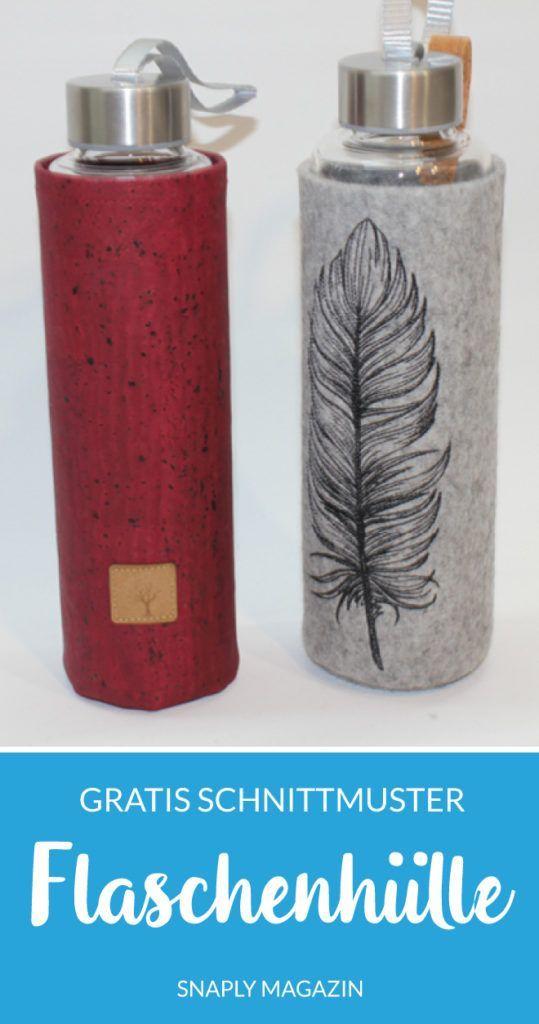Kostenloses Schnittmuster: Flaschenhüllen inkl. Plotter-Freebie | Snaply-Magazin