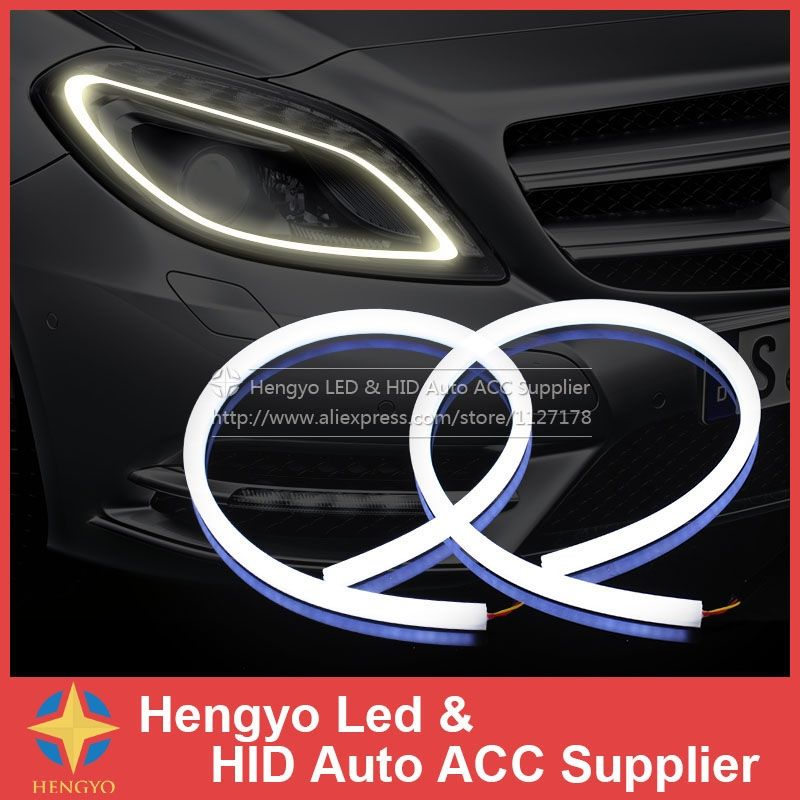 2 x 45cm led car light headlight flexible strip daytime running 2 x 45cm led car light headlight flexible strip daytime running light turn signal lamp angel aloadofball Images