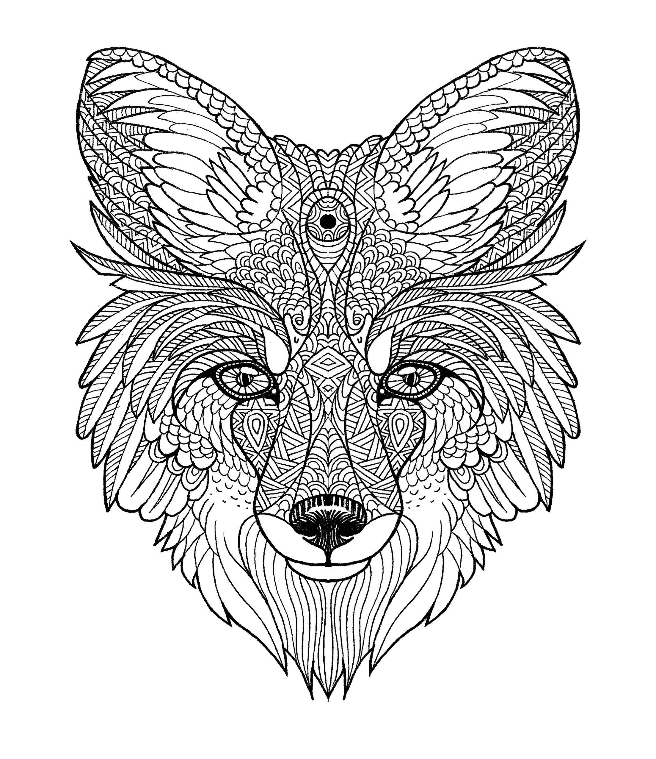 fox mandala diego ayerbe  fuchs malvorlagen bunt