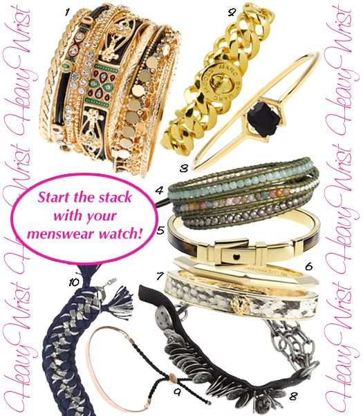 "how to create the ""Heavy Wrist"" trend for Fall!"