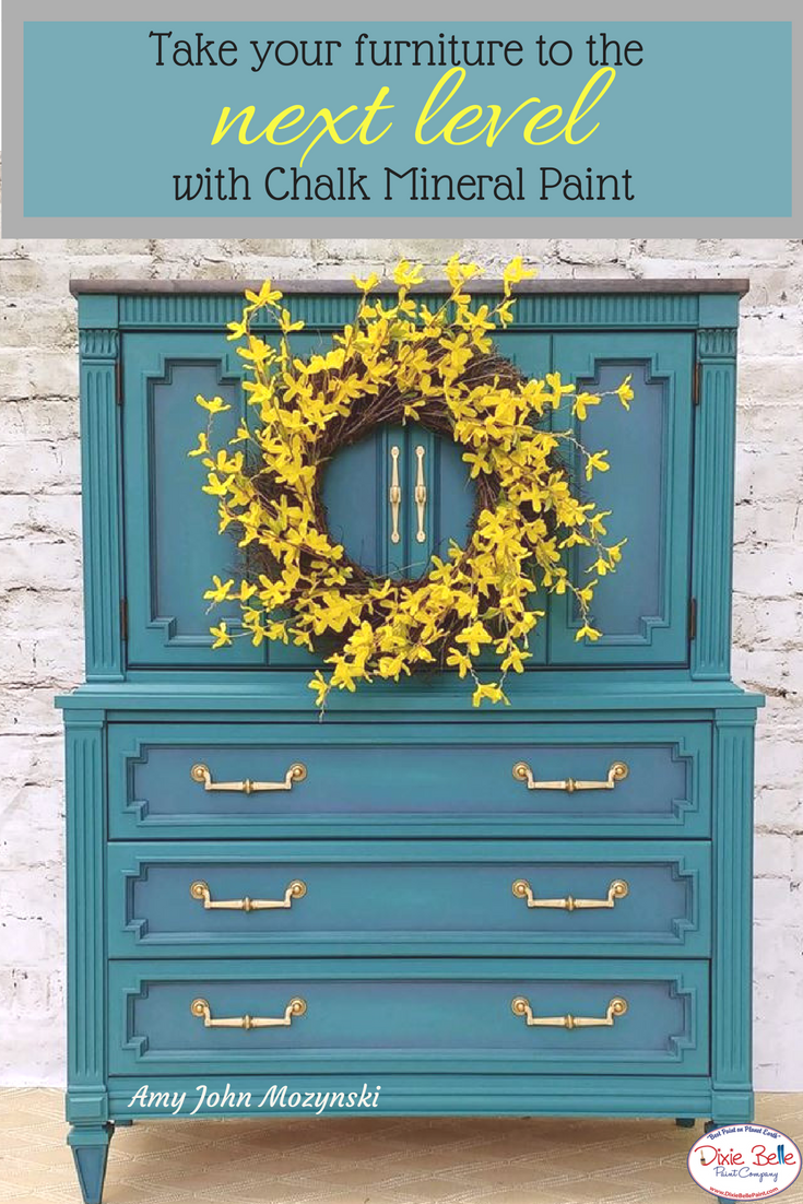 This Beautifully Vibrant Piece Is Painted With Dixie Belle Paint In Pea Palmetto And Yankee Blue We Love The Way Colors Blend