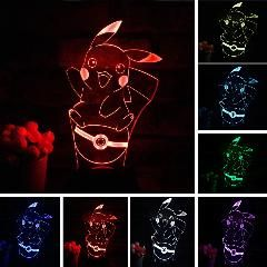 21 Off Pikachu 3d Atmosphere 7 Color Changing Lamp Pokemon Go Action Figure Visual Illusion Led Ho Color Changing Lamp Holiday Christmas Gifts Night Light