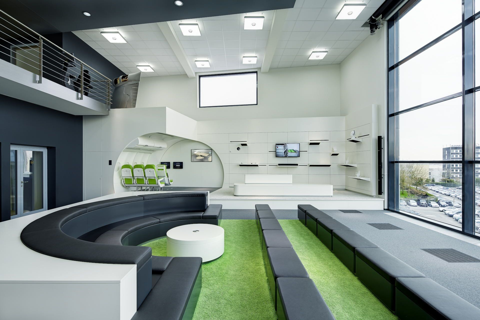 Innenarchitekt Hamburg showroom design lufthansa technik hamburg by ulla götz