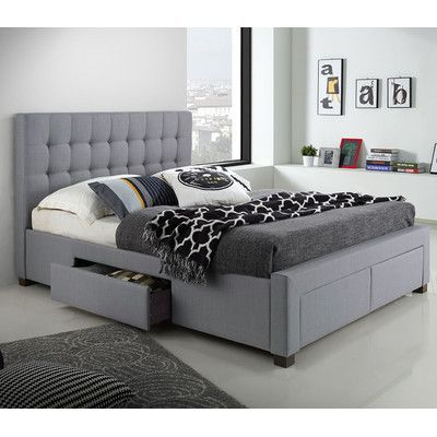 Three Posts Morrilton Upholstered Storage Platform Bed Queen