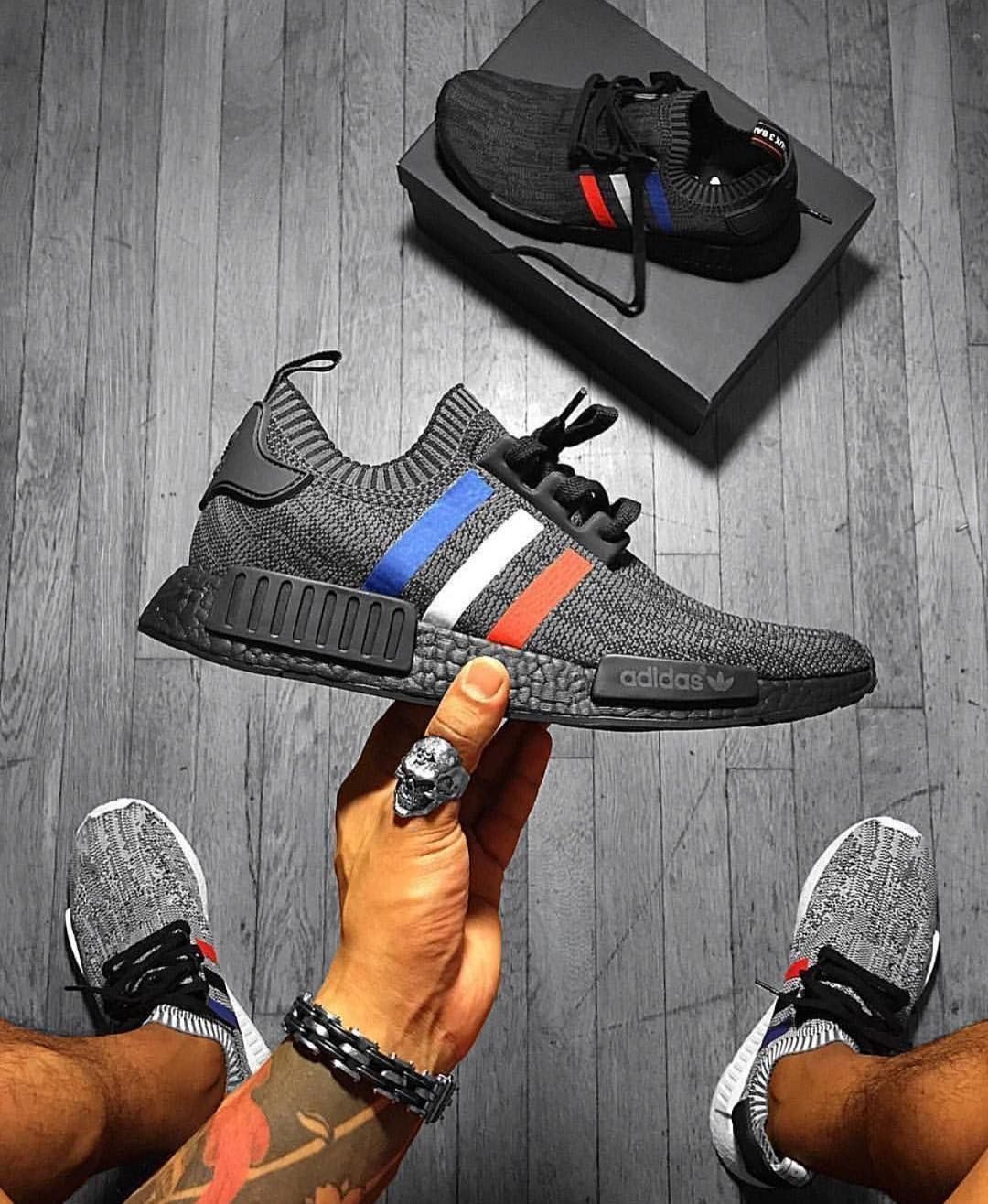 af58bd48c adidas NMD R1 Primeknit Tri-Color Pack with custom colored boost soles (  those M-like colours)