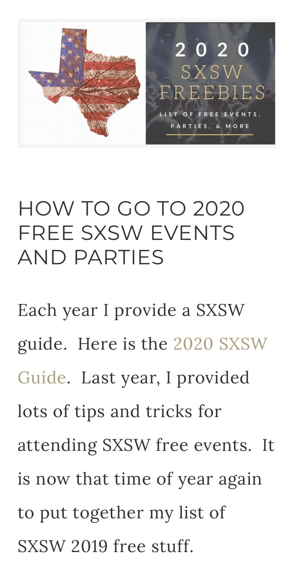 How to go to sxsw 2020 free events and parties find rsvp
