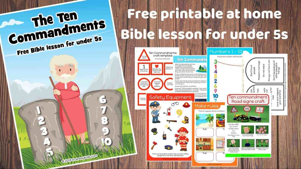 The Ten Commandments Free Bible lesson for under 5s