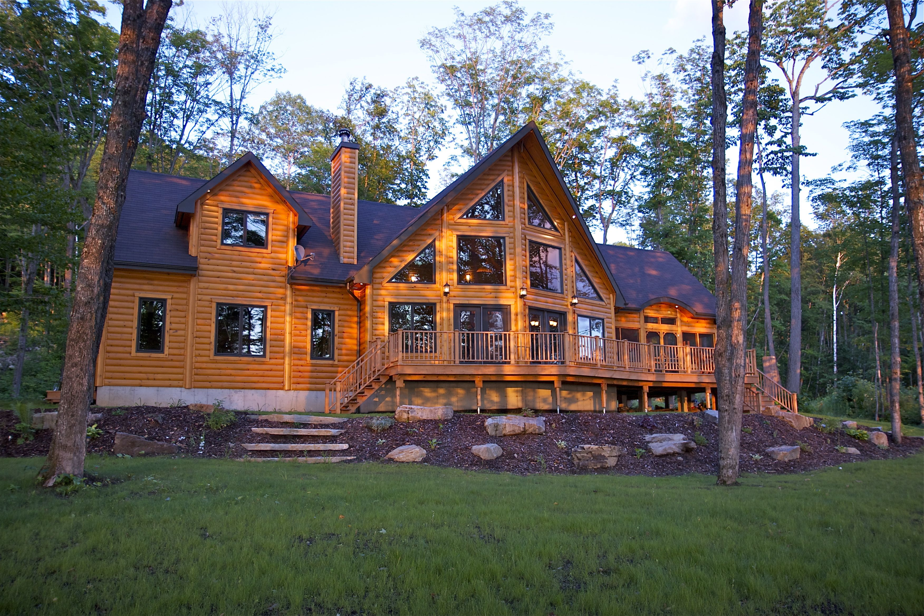 Construction Complete Top 5 Completed Timber Block Engineered Wood Homes Log Homes Log Homes Exterior House In The Woods