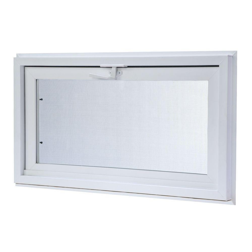 Tafco Windows 31 75 In X 23 75 In Hopper Vinyl Window With Screen Pv Hop 32x24 The Home Depot Basement Windows Window Vinyl Window Well