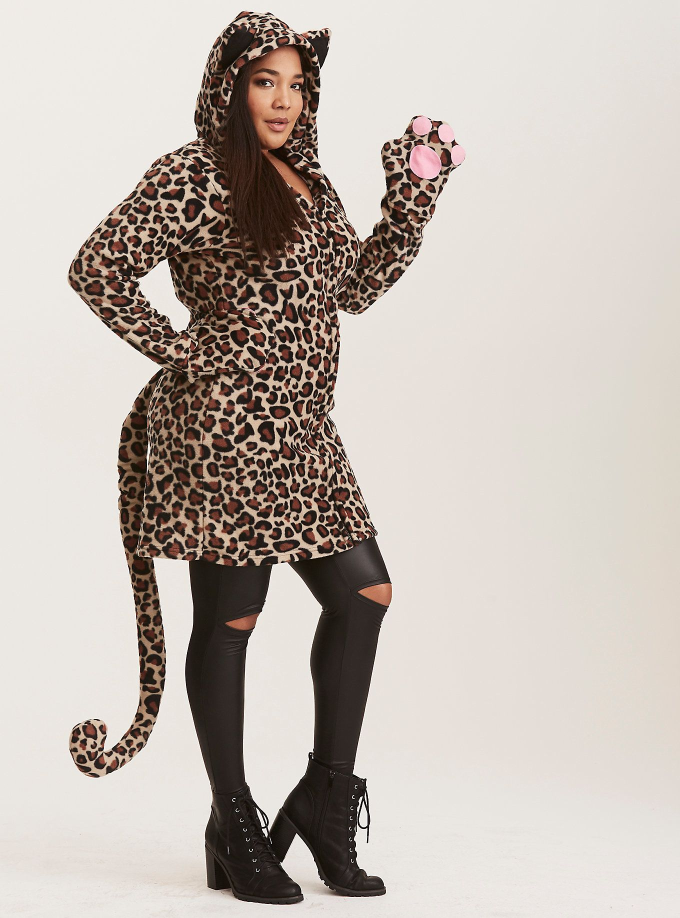leopard halloween outfit | torrid | style - what i like | pinterest